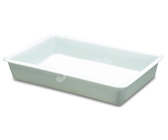 ARAVEN Cubeta de plástico blanco, 43.5x28.5 centímetros. Capacidad: 5 litros 1 Unidad