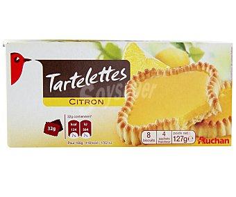 Auchan Tartaletas de limón Paquete de 127 gramos