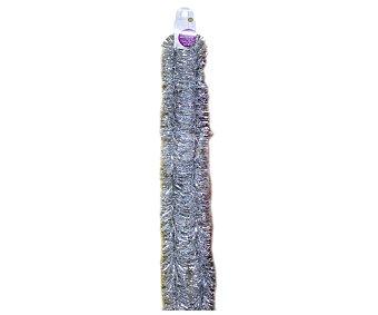 Actuel Espumillón de 7.5 centímetros y 2 metros de largo, de color plata ACTUEL 2m