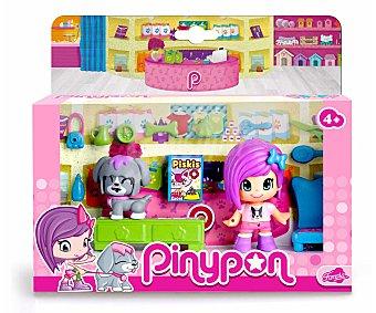 Pin y pon Playset de juego Pets Care, Cuidado de Mascotas, incluye 1 minimuñeca, 1 minimascota y accesorios 1 unidad