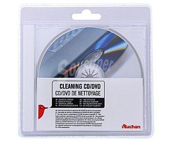 AUCHAN 400281 Disco de limpieza, para reproductores de CD y dvd,