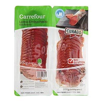 Carrefour Lomo embuchado en lonchas - Sin Gluten Pack de 2x100 g