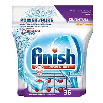 Finish Lavavajillas máquina power&pure Quantum 36 ud