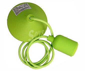 Actuel Portalámparas colgante casquillo E27, 40W, color verde con cable 1.2 metros actuel