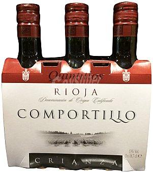 Comportillo Vino tinto rioja crianza Botellin pack 3 x 187 cc - 561 cc