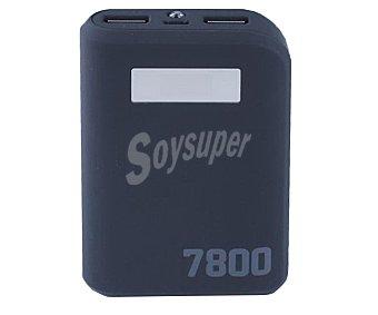 Qilive Cargador de batería portátil, capacidad 7800mAh, 2 puertos Usb, voltaje de salida: 5V, 1A/2A. Función linterna, pantalla Q.8438