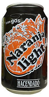 HACENDADO Naranja con gas light Lata de 33 cl