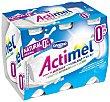 Yogur liquido natural 0% materia grasa pack 6 unidades 100 ml Actimel Danone