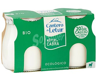 El Cantero de Letur Kéfir de cabra ecológico Pack 2 vasos x 125 g