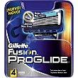 Recambio de maquinilla de afeitar Estuche 4 unidades Gillette Fusion Proglide