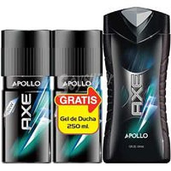 Axe Desodorante Apollo Pack 2x150 ml +gel