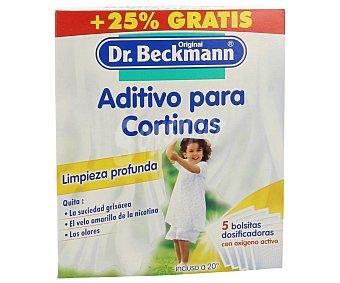 Dr. Beckmann Aditivo para cortinas (quita la suciedad grisácea, el velo amarillo de la nicotina y los olores) 400 g