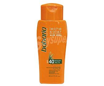 Babaria Leche solar hidratante con aloe vera y factor de protección 40 (alto) 200 ml