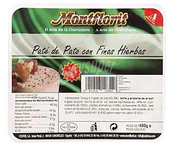 Montflorit Pate de pato con finas hierbas, elaborado sin gluten montfloir 100 g. 100 g