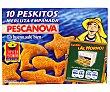 Peskitos de merluza empanada Paquete 400 gr (10 unidades) Pescanova