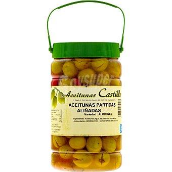 CASTILLO Aceitunas partidas aliñadas variedad Aloreñas de Malaga  tarro 700 g