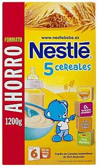 Nestlé Papilla de 5 cereales desde 6 meses Caja 1,2 kg