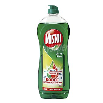 Mistol Lavavajillas mano ultra verde Botella 620 ml