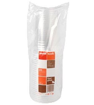 Carrefour Vasos desechables transparentes 25 unidades de un litro 1 ud