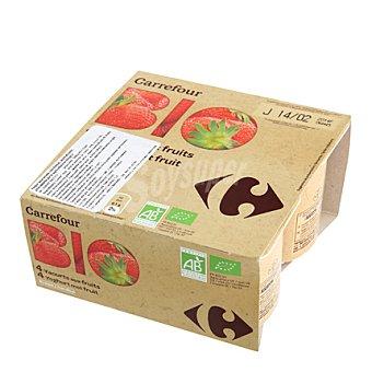 Carrefour Bio Yogur fresa Pack de 4x125 g