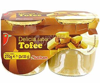 Auchan Postre lácteo sabor toffee Pack de 2 uds de 135 gr