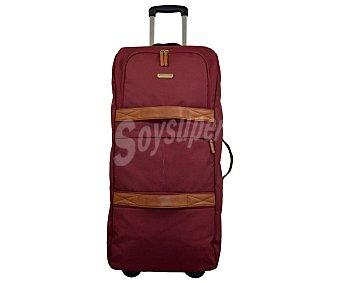 AIRPORT Bolsa de viaje de 93L multibolsillos, con estructura flexible de color marrón tinto alcampo