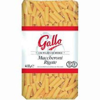 Gallo Pasta Artesanal Maccheroni Rigate Paquete 400 g
