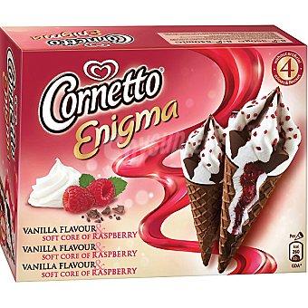 Frigo Cornetto Corneto Enigma de vainilla-frambuesa Pack 4x55 ml