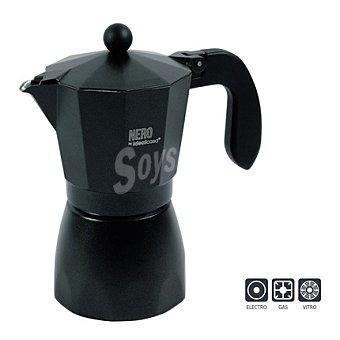 Cafetera aluminio negro 6 tazas 1 ud