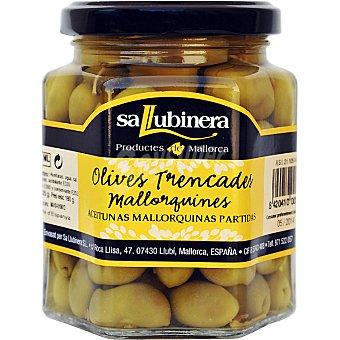LLUBINER Aceitunas verdes partidas de Mallorca Frasco 180 g neto escurrido