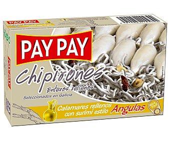 PAY PAY Chipirones enteros rellenos con surimi estilo angulas 72 Gramos