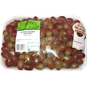 Uvas rosadas sin pepita peso aproximado Bandeja 1 kg