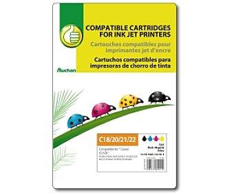 Productos Económicos Alcampo Cartucho negro+color PGI525+CLI526 - Compatible con Impresoras: pixma iP 4850 / iX6550 / MG5150 / MG5250 / MG5510 / MG6150 / MG8150 / MX885