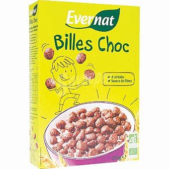 EVERNAT Bolas de cereales con chocolate ecológicas Envase 250 g