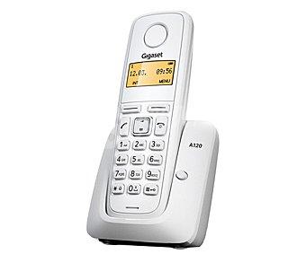 Gigaset Teléfono inalámbrico Dect A120 Blanco, identificador de llamadas, agenda para 50 números, lista de las últimas llamadas perdidas con hora y fecha