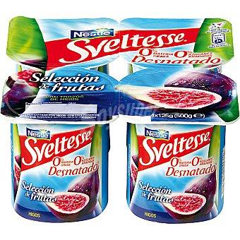 Sveltesse Nestlé Yogur desnatado 0% selección de frutas con higos Pack 4 unidades 125 g