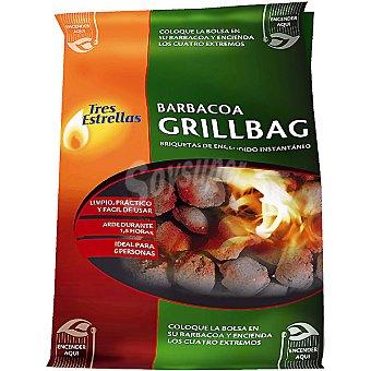 TRES ESTRELLAS Grillgag Bolsa de briquetas de encendido instantaneo 1,4 kg