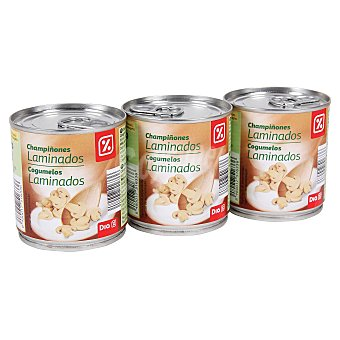 DIA Champiñon laminado  3 latas (315 gr)