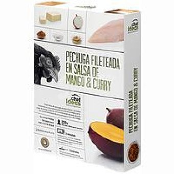 CHEF IDEAS C. Pechuga en salsa de mango-curry Bandeja 220 g