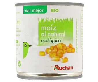 Auchan Maíz al natural, procedente de agricultura ecológica 140 gramos