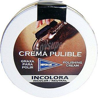 Hipercor limpia calzado crema pulible incolora  tarro 50 ml