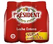 Leche entera de vaca president 6 x 1.5 l Président