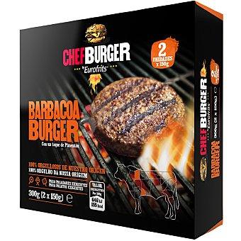 Chefburger Hamburguesa de vacuno barbacoa con un toque de pimentón 2 unidades estuche 300 g 2 unidades
