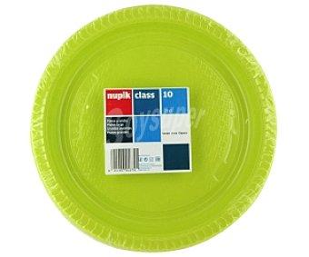 Nupik Platos verdes 22cm 10 Unidades