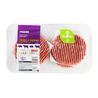 Eroski Hamburguesas sabor barbacoa 4 unid