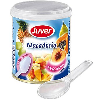Juver Macedonia de frutas incluye cuchara Fruitesse Lata 210 g neto escurrido