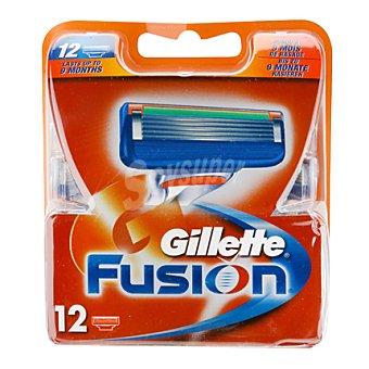 Gillette Cargador fusión 12 ud