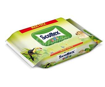 Scottex Papel higiénico húmedo Junior duplo paquete 84 unidades Paquete de 84 unidades