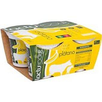 LACTUYOGUR Yogur de plátano Pack 4x125 g
