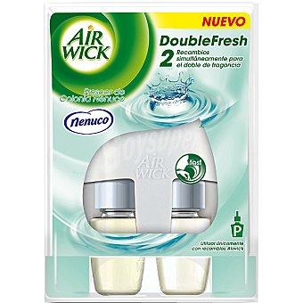 AIR WICK Double Fresh Ambientador eléctrico Frescor de colonia Nenuco aparato + 2 recambios